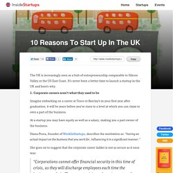 10 Reasons To Start Up In The UK