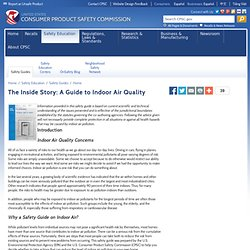 The Inside Story: A Guide to Indoor Air Quality