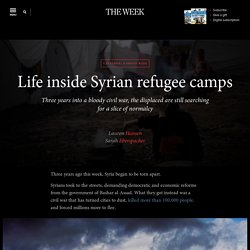 Life inside Syrian refugee camps