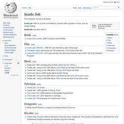 Inside Job (film) - wikipedia