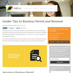 Insider Tips to Business Permit and Renewal
