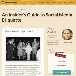 An Insider's Guide to Social Media Etiquette