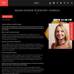 Pure London 2016 - Brand Insider Interview: FIORELLI