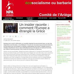 Un insider raconte : comment l'Europe a étranglé la Grèce - NPA - Comité de l'Ariège