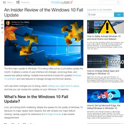 An Insider Review of the Windows 10 Fall Update