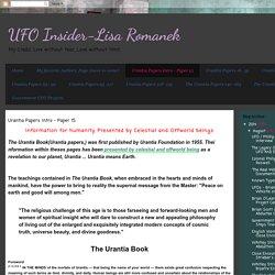 Urantia Papers Intro - Paper 15
