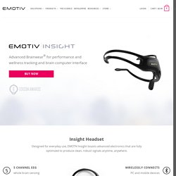 EMOTIV Insight Brainwear® 5 Channel Wireless EEG Headset