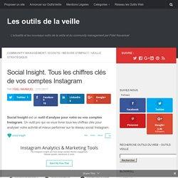 Social Insight. Tous les chiffres clés de vos comptes Instagram – Les outils de la veille