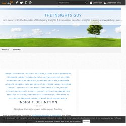Insight Definition - The Insights Guy