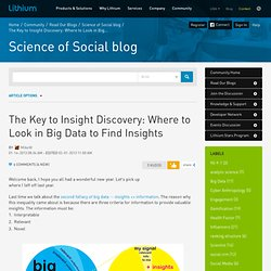 The Key to Insight Discovery: Where to Look in Big...
