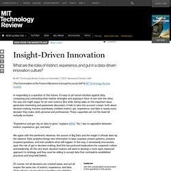 Insight-Driven Innovation