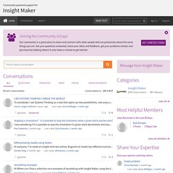 Insight Maker User Forum