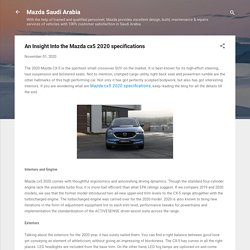 An Insight Into the Mazda cx5 2020 specifications