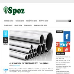 An Insight into the Process of Steel Fabrication - iSpoz