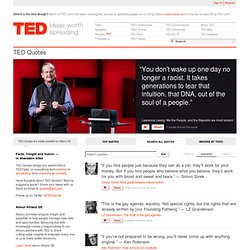 Quotes: Facts, insight and humor from TEDTalks — in shareable bites