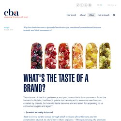 Insight: What's the taste of a brand?