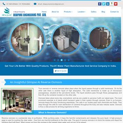 An Insightful Glimpse At Reverse Osmosis