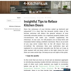 Insightful tips to reface kitchen doors