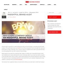 Why Every Company Needs an Insightful Brand Audit - Madmindstudios