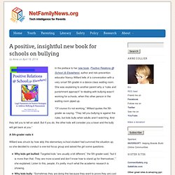 A positive, insightful new book for schools on bullying - NetFamilyNews.org