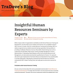 Insightful Human Resources Seminars by Experts