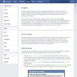 Insights - Développeurs Facebook