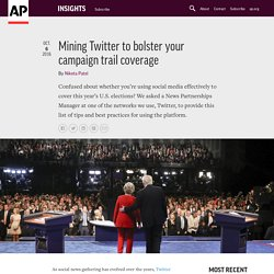 Mining Twitter to bolster your campaign trail coverage