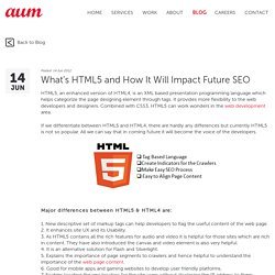 What's HTML5 and How It Will Impact Future SEO