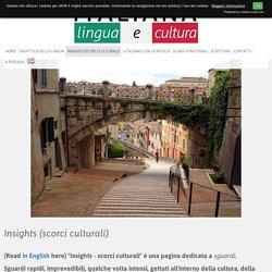 Insights (scorci culturali) - ITALIANA - Lingua e Cultura