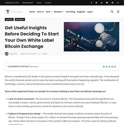 Get Useful Insights Before Deciding To Start Your Own White Label Bitcoin Exchange