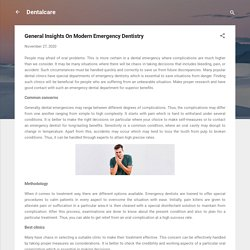 General Insights On Modern Emergency Dentistry