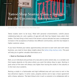 Tattoo Shop Startup Costs – Insights for the Upcoming Entrepreneurs