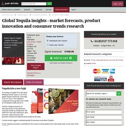 Global Tequila insights - market forecasts, product innovation and consumer trends research