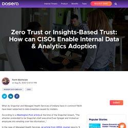 How can CISOs Enable Internal Data & Analytics Adoption