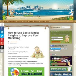 How to Use Social Media Insights to Improve Your Marketing : Social Media Examiner
