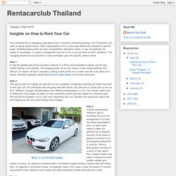 Insights on How to Rent Your Car