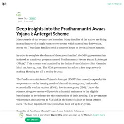 Deep insights into the Pradhanmantri Awaas Yojana k Antergat Scheme