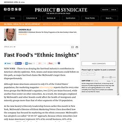 """Fast Food's ""Ethnic Insights"""" by Andrew Billo"