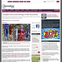 7 insights into social strategy at The Economist