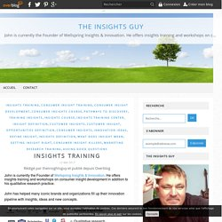 Insights Training - The Insights Guy