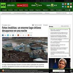 Fotos insólitas: un enorme lago chileno desaparece en una noche