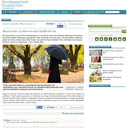 Mourir écolo : la Dame en noir s'habille de vert