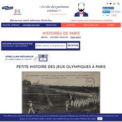 Petite histoire des Jeux Olympiques à Paris