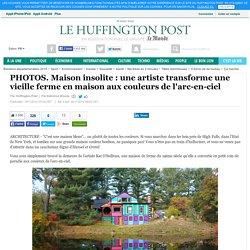 Maison insolite : une artiste transforme une vieille ferme en maison aux couleurs de l'arc-en-ciel