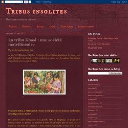 Tribus insolites: La tribu Khasi : une société matrilinéaire