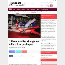 13 bars insolites et originaux à Paris à ne pas louper