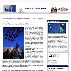Grèce: du mensonge à l'insolvabilité