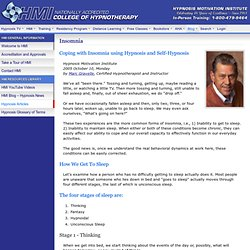Insomnia - Coping with Insomnia using Hypnosis and Self Hypnosis