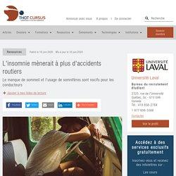L'insomnie mènerait à plus d'accidents routiers - Thot Cursus