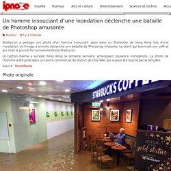Un homme insouciant d'une inondation déclenche une bataille de Photoshop amusante